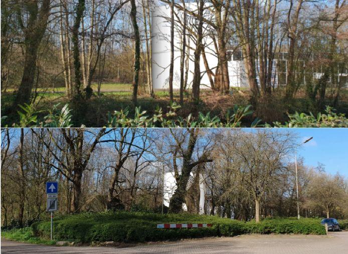 Artist impressie van een warmtebuffer ingepast aan de Offerhausweg. De kleur wit is hier alleen gebruikt om de buffer op deze foto zichtbaar te maken.