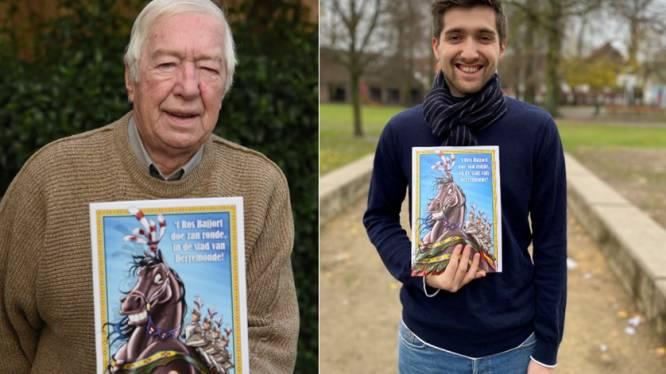 """Grootvader en kleinzoon brengen samen brochure met cartoons over Ros Beiaard uit: """"Plezanter aftellen naar ommegang"""""""