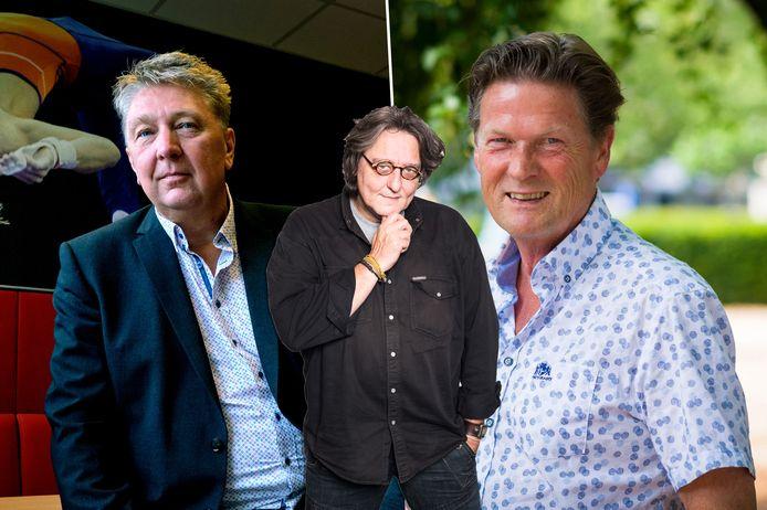Kees Thies over de Beter Voor Dordt-wethouders Marco Stam (links) en Piet Sleeking (rechts).