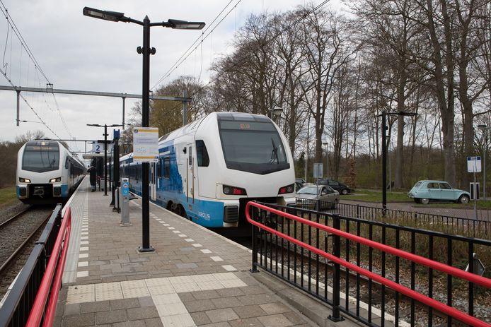 Het treinstation in Heino.