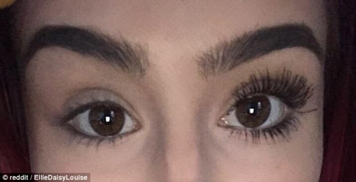 Op internet zijn er talloze voor- en na foto's te vinden van meiden met de essence mascara op.