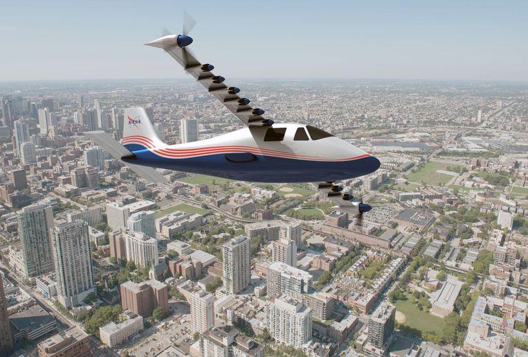 De  X-57. Het elektrisch vliegtuigje van de ruimtevaartorganisatie NASA Beeld Photo News