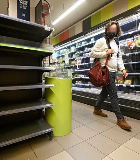 Des rayons toujours vides chez Carrefour, surtout en Wallonie et à Bruxelles