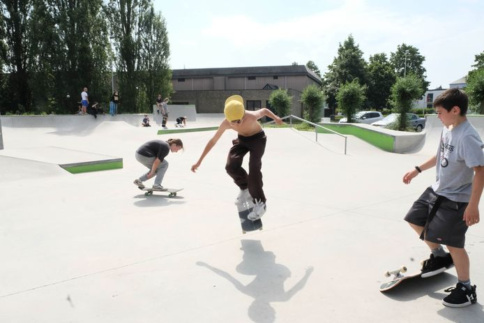 Een beeld van het Lierse skatepark. Voor alle duidelijkheid: de jongeren op de foto hebben niets te maken met de overlast.