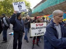 Anti-islambeweging Pegida demonstreert in Rotterdam