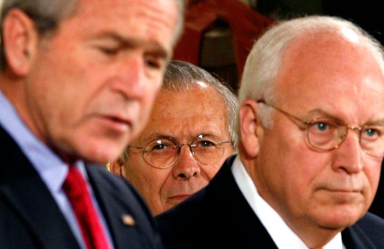 President Bush en vicepresident Cheney. Beeld reuters