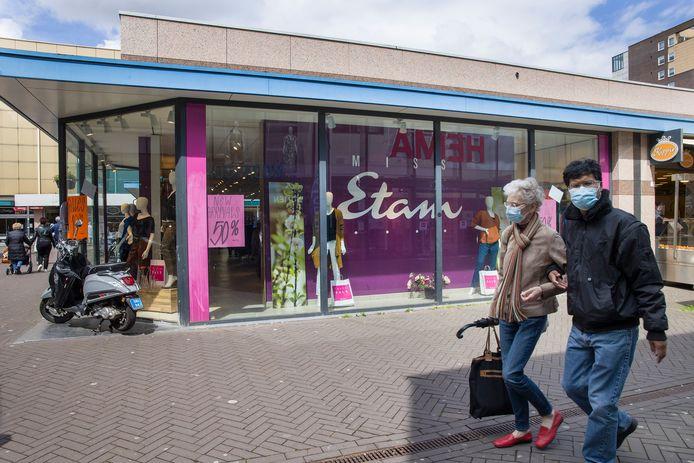 In Roosendaal is Miss Etam nog open, maar er wordt amper nog in de winkel geïnvesteerd.