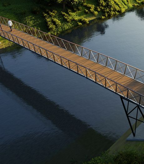 Na sloop fietsbrug wordt materiaal gebruikt voor nieuwe brug met uitkijkpunt over Oude IJssel