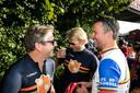 Guus Meeuwis (links) was in 2018 ook al te gast bij de Tour der Ongeschoren Benen, samen met onder anderen cabaretiers Leo Alkemade (midden) en Rob Scheepers.