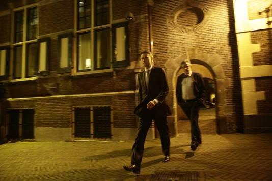 VVD-fractieleider Halbe Zijlstra na afloop van het crisisberaad van VVD en PvdA over de gesneuvelde zorgwet van minister Edith Schippers