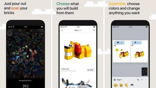 Nieuwe app scant LEGO-steentjes en geeft inspiratie voor bouwwerkjes