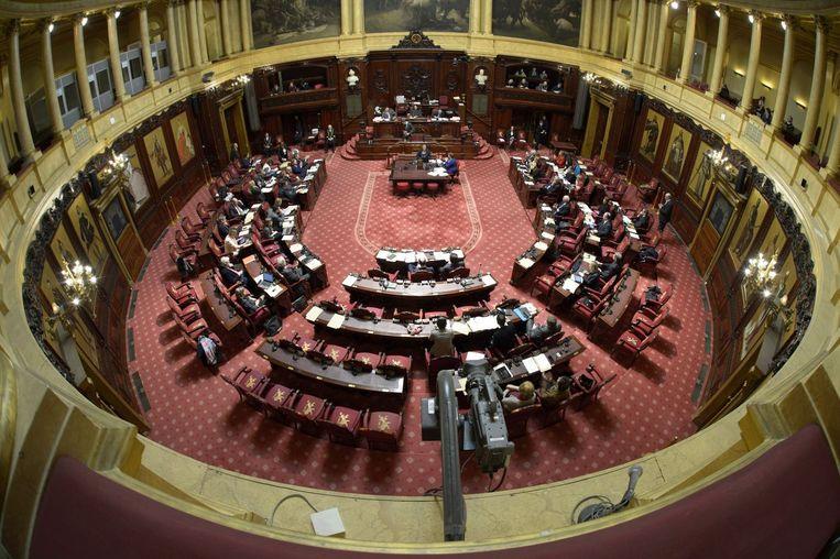 Het zou de eerste keer zijn deze legislatuur dat er een wisselmeerderheid in de Senaat zou komen. Beeld PHOTO_NEWS