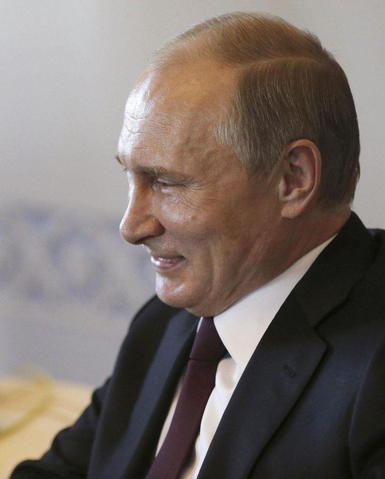 Trump over Poetin: 'Hij is tenminste een leider, in tegenstelling tot wat wij hebben in ons land.' Beeld RV
