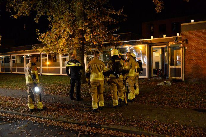 Brand bij school aan Heusdenhoutsestraat in Breda.