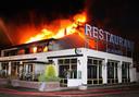 De verwoestende brand bij het wegrestaurant, inmiddels bijna 12 jaar geleden.