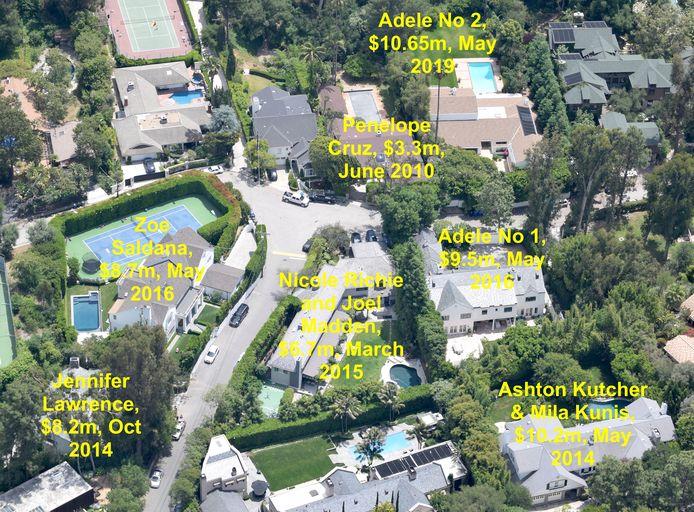 Het huis van Nicole Richie en Joel Madden werd nu overgekocht door Adele