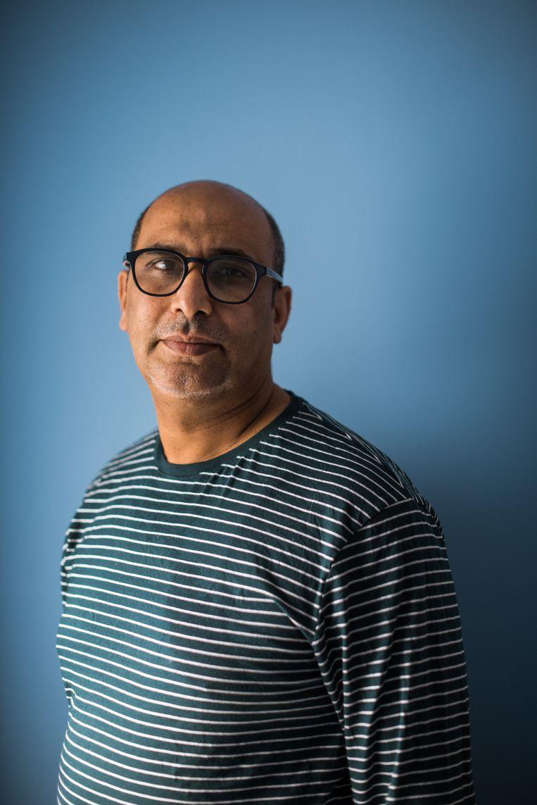 'Ik geloof dat de vaccinaties rond populaire winkels soelaas kunnen brengen', zegt Mostafa El Ghazouani. Beeld Wouter Maeckelberghe