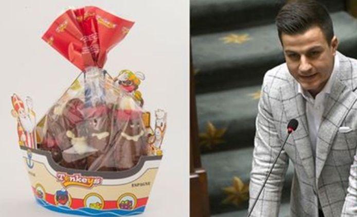 """""""Ik kreeg een offerteaanvraag te zien voor Sinterklaas-chocolade voor een maximum van 30.000 euro"""", reageert Dries Van Langenhove (VB). Fake news, volgens Fedasil."""