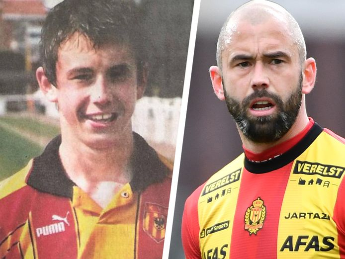 Defour tussen 1998 en 2003 bij KV Mechelen en Defour nu.