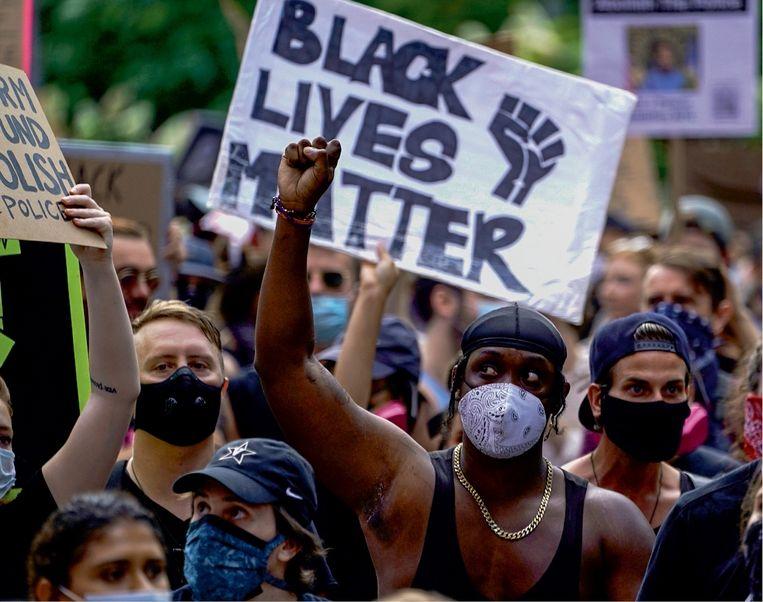 'Echte verandering is pas mogelijk als de Black Lives Matter-beweging ertoe leidt dat zwarten politieke macht verwerven, en daar ben ik vrij optimistisch over.' Beeld BelgaImage