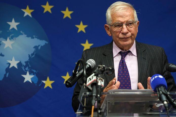 De hoge vertegenwoordiger van het Europees buitenlands beleid, Josep Borrell.
