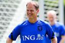 Frank de Boer tijdens de training vrijdag.