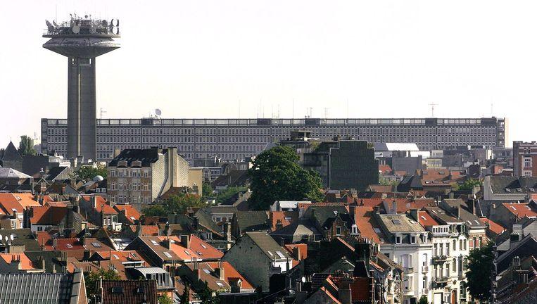 Hoofdkwartier van de VRT in Brussel. © afp Beeld afp