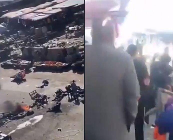 Volgens nog onbevestigde berichten vielen er 9 doden en 25 gewonden.