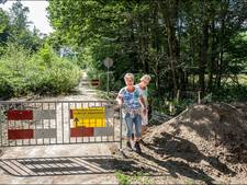 Fietspad spoorkuil Groesbeek afgesloten