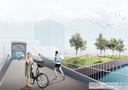 Een blik op de nieuwe fiets- en voetgangersbrug