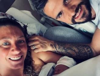 Yanina Wickmayer en haar man verwelkomen dochter Luana Daniëlla