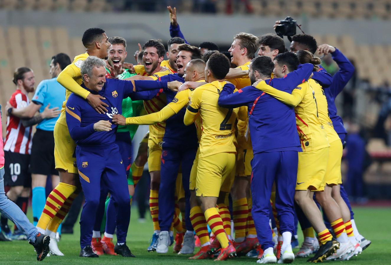 Barcelona is in extase na de zege in de Spaanse bekerfinale.