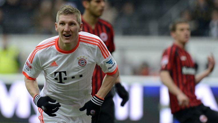 Bastian Schweinsteiger heeft Bayern op 1-0 gezet. Beeld afp