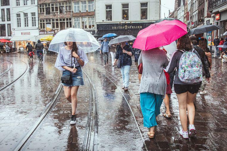 Gentse Feesten in de regen, Groentenmarkt