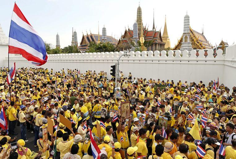 Anti-regeringsprotesten in Bangkok. Beeld epa