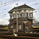 Het seinhuis doet sinds 1994 geen dienst meer. Roosendaal wilde het wel graag behouden. Dat gebeurt nu ook. foto Robert van den Berge/het fotoburo