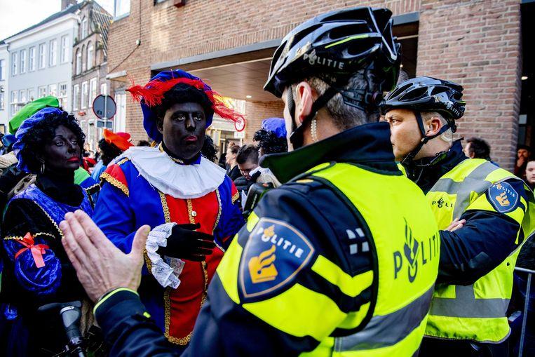 Zwarte Pieten in Nederland. Beeld ANP