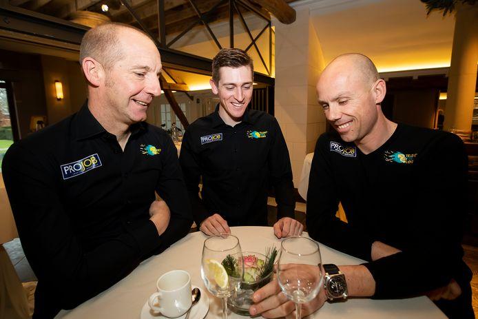Kris Wouters met Toon Aerts en Sven Nys.