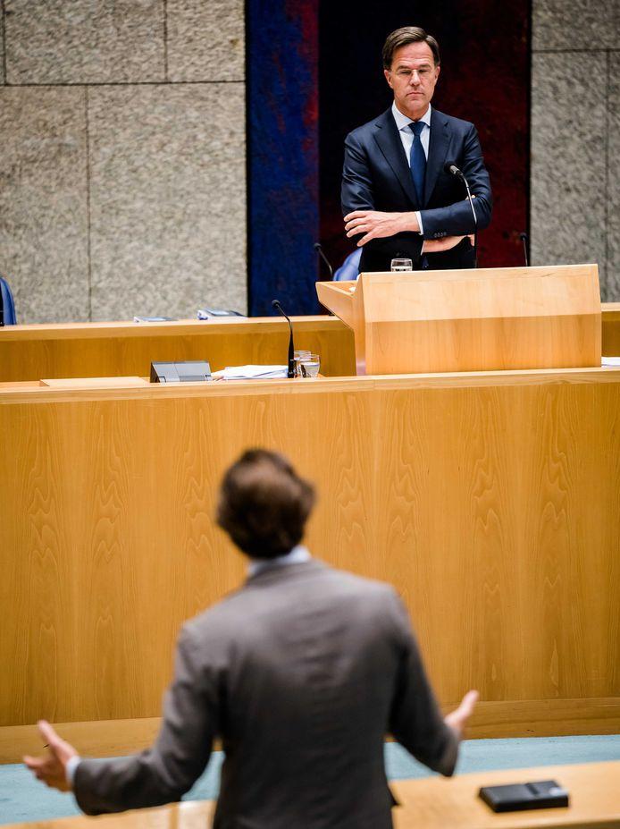 Rutte in debat met Thierry Baudet (FvD).