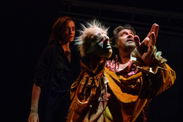 Fred Delfgaauw en Ida van Dril  tijdens hun nieuwste voorstelling King Lear.