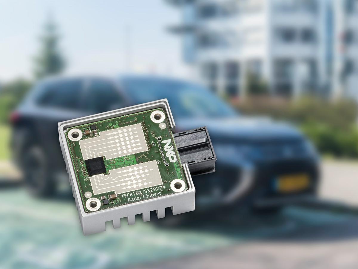 Een chip voor radars in de auto, van het Nederlandse NXP