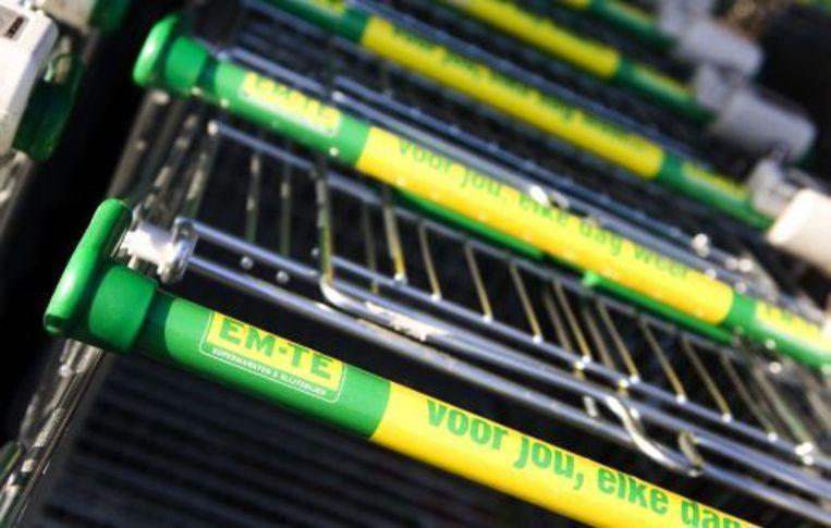 Winkelwagentjes bij een EM-TE supermarkt. ANP Beeld
