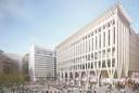 Het ontwerp voor het nieuwe cultuurpaleis in Den Haag.