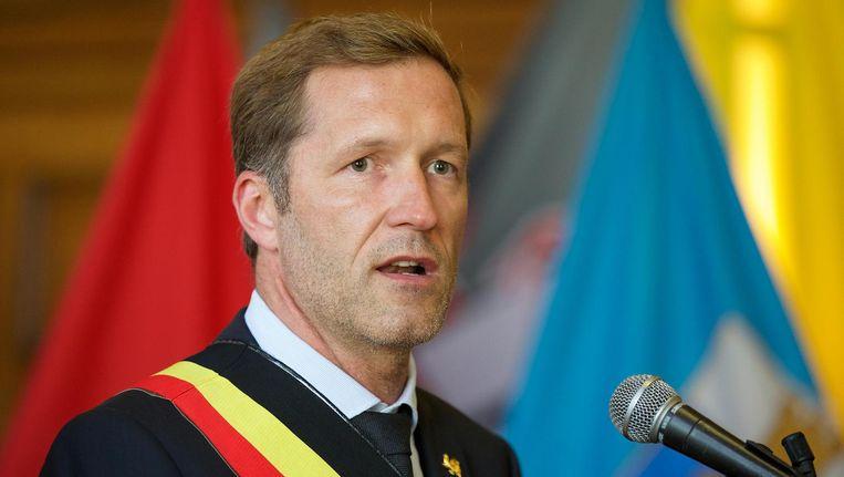 Paul Magnette, de burgemeester van Charleroi, afgelopen weekend. Beeld belga