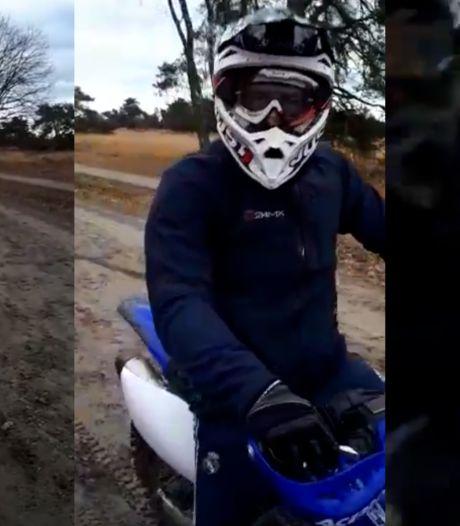 Motorcrossers slaan mobiel uit handen van man die met kleinkinderen wandelt op Strabrechtse Heide