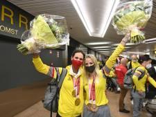 """La médaillée paralympique Michèle George bien accueillie au retour de Tokyo: """"Ça vaut de l'or"""""""