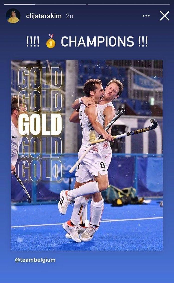 Clijsters feliciteert de Red Lions.