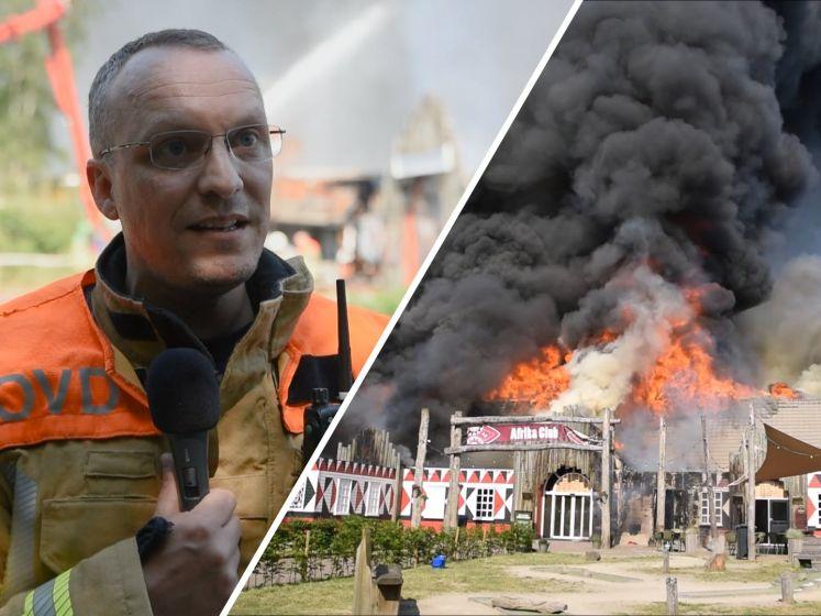 Hoofdgebouw Beekse Bergen volledig verwoest door grote brand