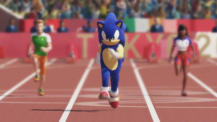 Sonic The Hedgehog op weg naar zijn gouden medaille op de Spelen van Tokio. Beeld Sega