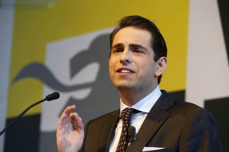 Vlaams Belang voorzitter Tom Van Grieken Beeld BELGA